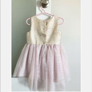 Dresses - Pink and Gold Dress